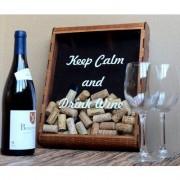 United Glasbox für Weinkorken-Sammlung