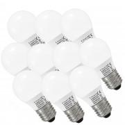 [lux.pro] 10 x LED E27 Bombillas 3 W - Bianco Cálido 3000K - Lámpara Bombilla