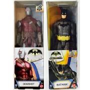 Batman dc Universe Series 12 inch Action Figure - Batman Black Gray Suit / Batman Deadshot 12 inch Action Figure - Double 2-Pack Bundle