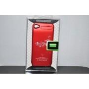 Carcasa cu baterie suplimentara iPhone4/4S Rosie