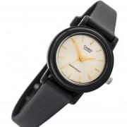 Reloj Casio Lady Lq-139emv Water Resistant Resina Aguja Gold-Negro