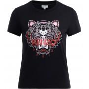 Kenzo T shirt Kenzo Tigre in cotone nero con logo frontale colorato