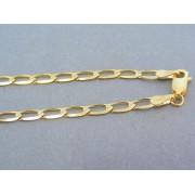 Zlatá retiazka oválne očka tvar vajička žlté zlato DR455560Z