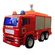 iPuzzle Firefighter Truck Toy Rescue Engine Fire Truck with Water Pump (Shooting Squirting Water)