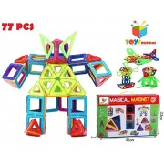 Toys Bhoomi 77 Piece Magical Magnetic Building Blocks 3D Magic Play Stacking Set DIY for Brain Development