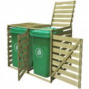vidaXL Containerberging dubbel 240 L FSC geïmpregneerd hout