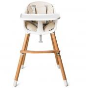 Costway Trona para Bebé Trona Convertible Multifuncional con Bandeja Removible Arnés de 5 Puntos Cojín Acolchado Altura Ajustable para Bebé de 6 a