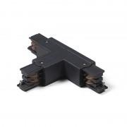 QAZQA T-Koppelstuk voor 3-fase rail links B zwart