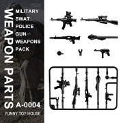 Generic Military Swat Team Guns Weapon Pack Building Blocks City Police Soldiers Figure WW2 LegoINGlys Military Army Builder Series Toys A-4