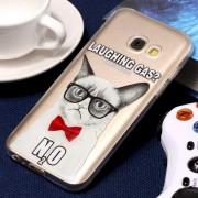 Samsung Voor Galaxy A3 (2017) Embossment expressie kat patroon zachte TPU beschermende geval