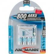 Ansmann Akku NiMH Akku AAA/Micro 800mAh maxE, 4 Stück