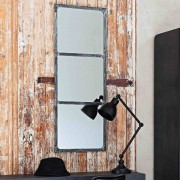 Maisons du monde Espejo de metal con efecto oxidado Al. 120 cm CARGO