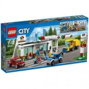 Lego city - set costruzioni stazione di servizio