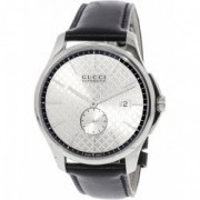 Ceas barbatesc Gucci G-Timeless YA126313 argintiu Leather Swiss Automatic YA126313