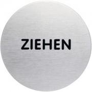 """DURABLE · Hunke und Jochheim GmbH & Co. KG """"DURABLE PICTO Piktogramm """"""""ZIEHEN"""""""", Ø 83 mm, Hinweissymbol aus hochwertigem Edelstahl, 1 Stück"""""""