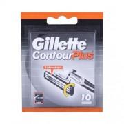 Gillette Contour Plus 10 ks náhradné ostrie pre mužov