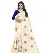 Indian Style Sarees New Arrivals Latest Women's Blue Art Silk Embroidered Saree With Blouse Bollywood Designer Saree