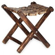 Desi Karigar Wooden Foldable Stool / Chair / Table Made From Natural Wood
