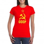Shoppartners Rood CCCP / Sovjet-Unie t-shirt voor dames