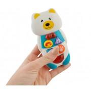 Telefon interactiv, educational pentru copii cu butoane care emit diverse melodii, forma Ursulet