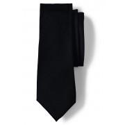 ランズエンド LANDS' END メンズ・ソリッド・シルク・レップ・タイ/ネクタイ(ブラック)