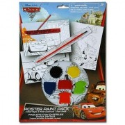 Disney Cars Paint Your Own Poster Kit - 10 Piece Set with Posters Paints and Brush for Art Fun