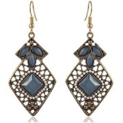 Sanaa Creations Blue and Gold Alloy Dangle Drop Earrings For New Year Special offer Women and Girls