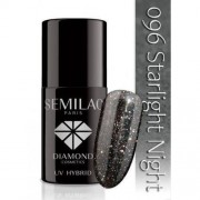 Semilac Diamond Cosmetics Lakier Hybrydowy Semilac 096 Starlight Night - 7 Ml
