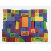 Non Toxic EVA Foam Building Block 93 Pieces Non-Toxic and Safe For Kids, With alphabets and Numbers on Blocks For kids
