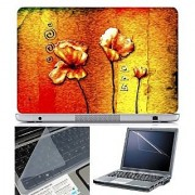 FineArts Laptop Skin Abstract Series 1036 With Screen Guard and Key Protector - Size 15.6 inch