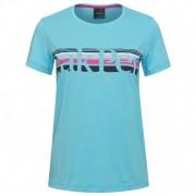 Peak Performance Women`s Explore Tee Stripe Print T-shirt (L, turchese)