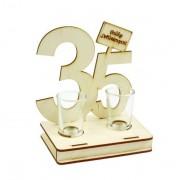Pálinkás pohár szett 35. Születésnapi ajándék 2db 2cl - Tréfás Pálinkás szett