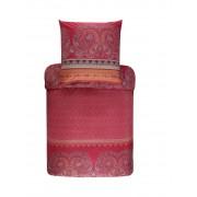 Bassetti Recanati Bettwäsche-Garnitur aus Mako-Satin - R1 - rot - 240x220 / 2x80x80