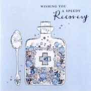 luxe beterschapskaart - wishing you a speedy recovery...