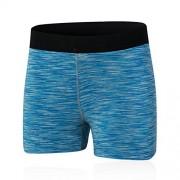 Double Strawberry Pantalones cortos de deporte para mujer, Azul, L