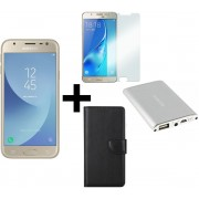 Samsung Galaxy J3 (2017) - 16GB - Goud + hoesje, screenprotector & powerbank