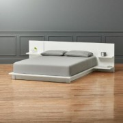Andes White Queen Bed by CB2