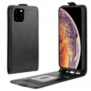 iPhone 11 Pro Max Vertical Flip Case with Card Slot - Black