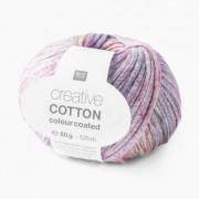 Rico Design Creative Cotton Colour Coated von Rico Design, Lila-Mix