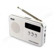 METRONIC Radio numérique DAB+ et radio FM - blanc