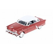 Welly 1953 Ford Crestline Victoria, Red w/ White - 22093WR 1/24 Scale Diecast Model Toy Car