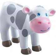 Haba Little Friends Spotted Calf - 3 Chunky Plastic Toy Farm Animal Figure