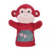 Panda A principios de Aprendizaje Muñecas Marionetas de Animales Juguete de Lujo Marionetas de Mano del Mono Rojo del Modelo