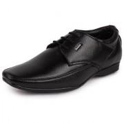 Bata Men's Synthetic Leather Black Lace Up Shoes