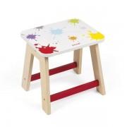 JANOD Drewniany stołek dla dzieci, taboret do stolika artystycznego Splash Stool,