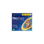 Nexgard Spectra For Small Dogs 7.7-16.5 Lbs (Yellow) 3 Pack