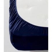 Jersey gumis lepedő - kék