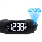 Radio cu ceas Blaupunkt CRP9BK, FM radio, Dual Alarm, Termometru, Proiector, USB, Negru