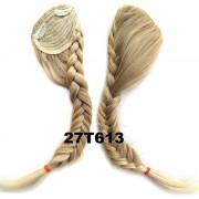 Clip in ofina s pleteným copánkem (odstín 27 T 613 ) - Světové Zboží