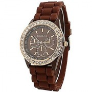 Geneva Analog Brown Dial Women's Watch
